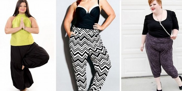 Plus Size Harem Trousers & Pants