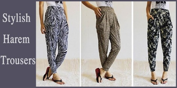 stylish harem trousers
