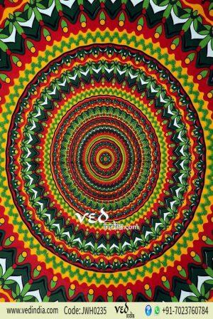 Bright Multicolor Mandala Tapestry