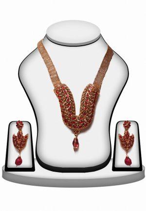 Buy Online Designer Polki Jewellery Sets in Red Stone-0