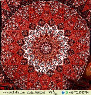 Hippie Star Mandala Tapestry