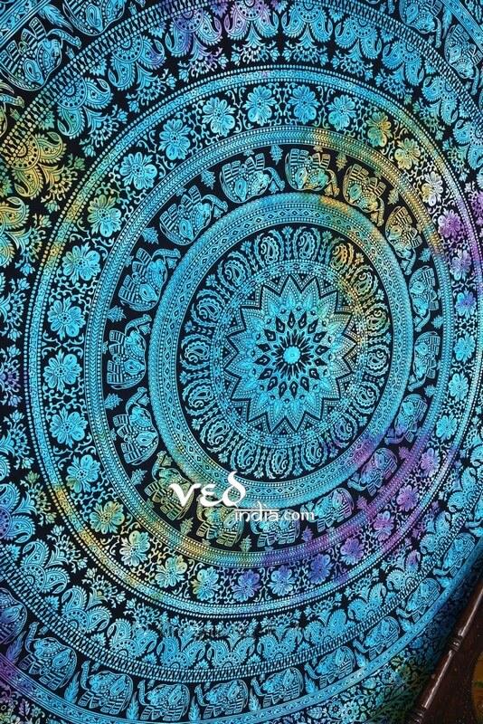 Blue Hippie Throw Bedding