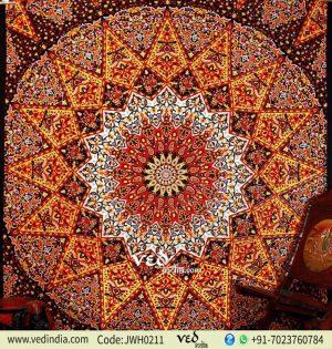 Psychedelic Star Mandala Tapestry