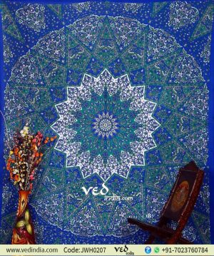 Star Mandala Indian Tapestry