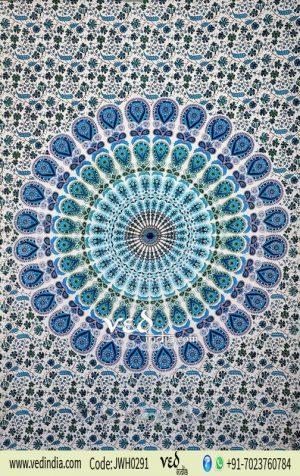 Blue Bird Wings Beach Tapestry
