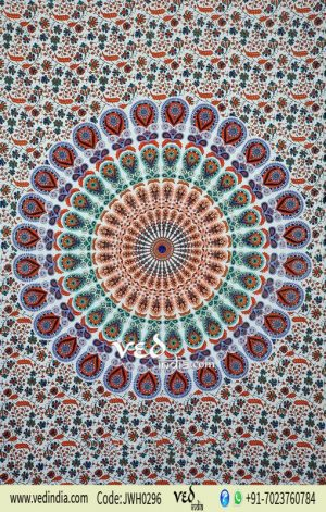 Blue Color Bohemian Tapestry