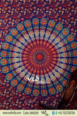 Blue Hippie Mandala Boho Tapestry