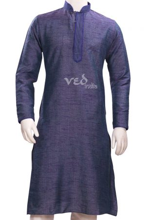 Readymade Turquoise Kurta Pjyama for Men for Formal Parties-0