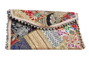 Vibrant Colorful Vintage Clutch Sling Bags for Women with Embroidery Work-0
