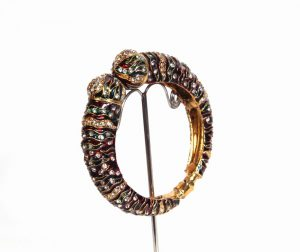 Party Wear Fashion Bangle in Red and Green Design for Women -0