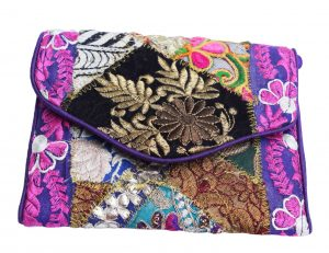 Buy Online Vibrant Colorful Antique Old Zari Bohemian Clutch Sling Bag-0