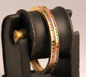 Gorgeous Designer Colorful Bangles in Multi-Color AD Stones-0