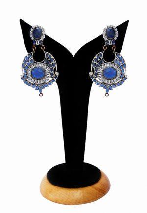 Buy Online Designer Earrings for Women in Blue Beads and Stones-0
