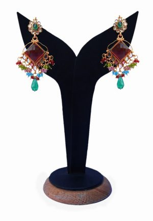 Exclusive Fashion Earrings in Multi-Colored Beads for Girls-0