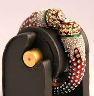 Red and White Fancy Bridal Bangles from India with Stones-0