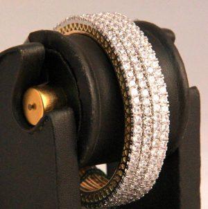 Mesmerizing White AD Stone Fashion Bangles from India-0