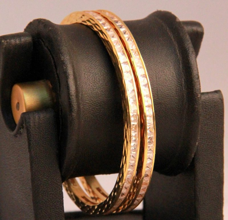 Latest Design White AD Bangles for Women from India-0