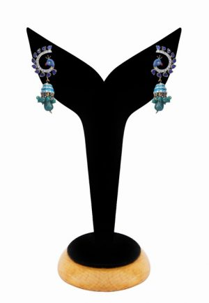 Stylish Peacock Earrings in Multi-Colored Stones for Parties-0