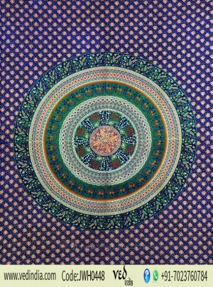 Blue and Green Boho Design Dorm Mandala Tapestry Wall Hanging and Towel-0