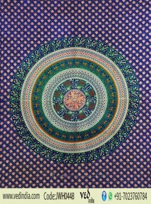 Blue and Green Boho Design Dorm Mandala Tapestry Wall Hanging and Towel-0