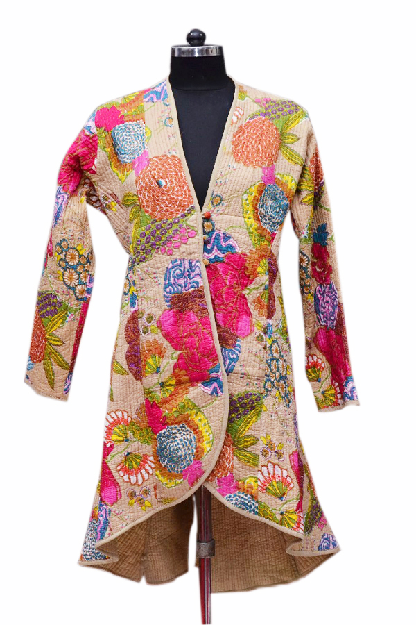 Classic Designer Colorful Hand Woven Quilted Jackets From India-0