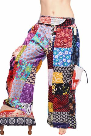 Buy Cheap Designer Colorful Long Trouser for Ladies From India-0