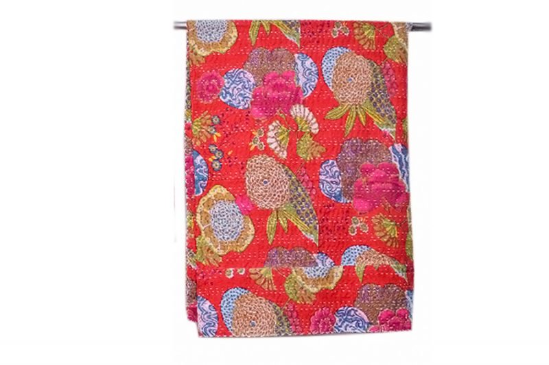 Designer Luxury Red Bed Sheets With Beautiful Embroidered Floral Patterns-0