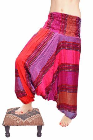 Traditional Indian Designer Boho Harem Pants in Tri Color-0