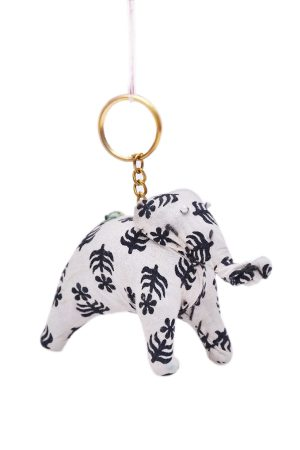 Beautiful White and Black Designer Decorative Elephant From India-0