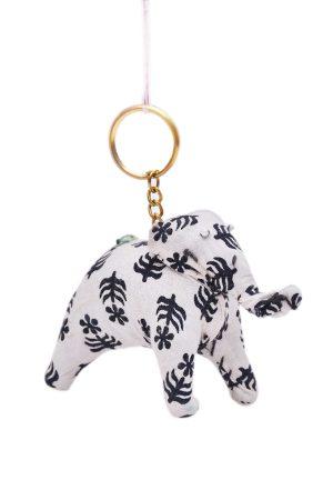 Beautiful White and Black Designer Decorative Elephant From India-0