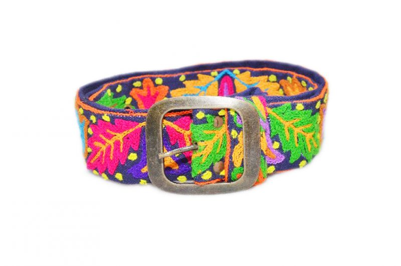 Beautiful Green And Pink Leaves Designs Fashion Belts From India-529