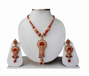 Beautiful Designer Girls Pendant Set with Earrings From India-0