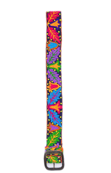 Beautiful Green And Pink Leaves Designs Fashion Belts From India-0