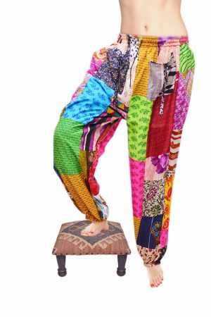 Designer Colorful Indian Folk Baggy Pants for women From India-0