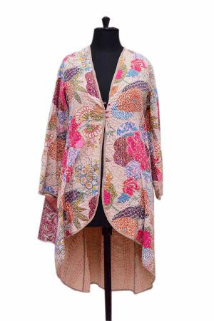 Traditional Indian Design Women Long Quilted Coats at Wholesale Prices-0