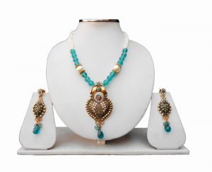 The Stunning Turquoise Pendant Sets With Fancy Earrings-0