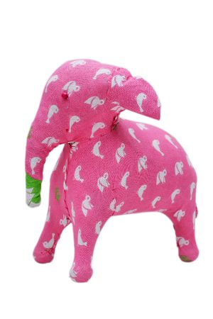 Latest Designer Pink Decorative Elephant With White Bird Print-0