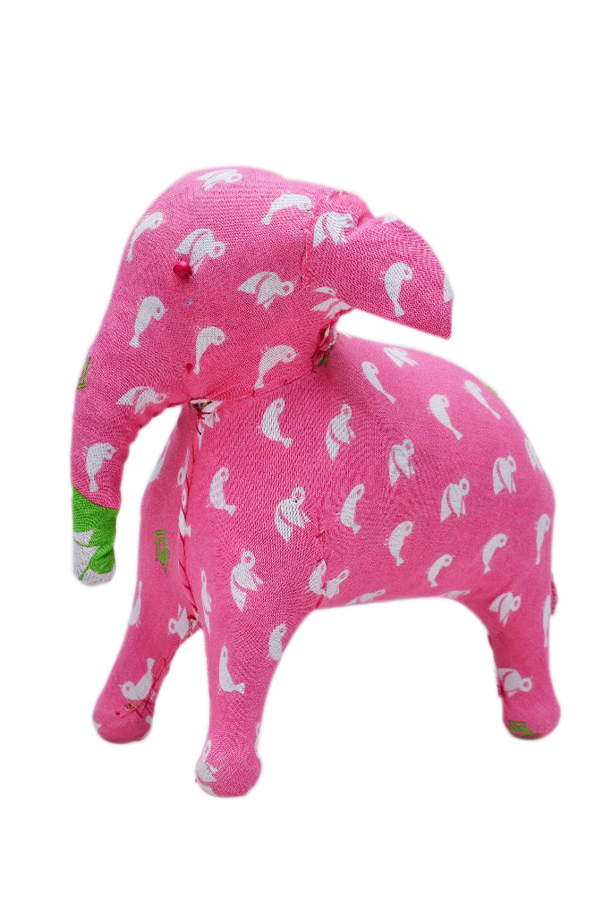 Latest Designer Pink Decorative Elephant With White Bird Print-0