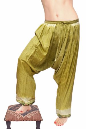 Buy Wholesale Designer Glossy Green Stylish Baggy Pants-0