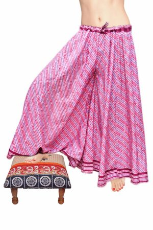 Buy Wholesale Pink and White Thai Harem Pants With Patchwork Design-0