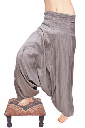 Gorgeous Gray Unisex Hippie Pants for Ladies From India-0