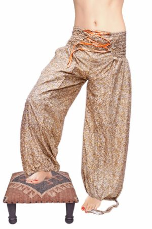 Buy Cheap Designer Unisex Silk Harem Yoga Pants With Glossy Material-0