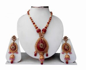 Buy Online Designer Wedding Pendant Set with Earring for Women-0