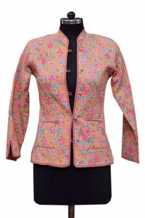 Buy Cheap Designer Cotton Women Quilted Jackets With Pockets‎-0