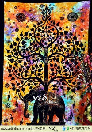 Beautiful Elephant Tree Tapestry