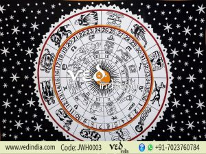 Black and White Zodiac Wall Tapestry