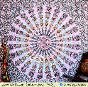Boho Mandala Psychedelic Indian Tapestry