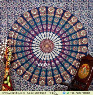 Buy Blue Mandala Tapestry Throw