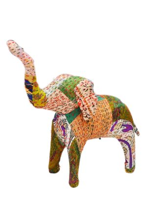 Traditional Designer Colorful Handmade Elephant In Victory Pose-0