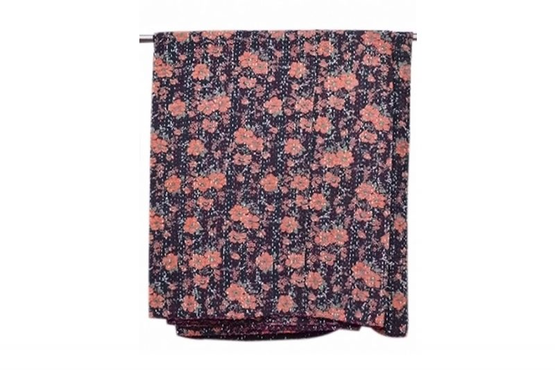 Beautiful Black And Brownish Floral Designed Modern Bed Covers-0